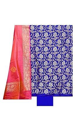 Silk Suit Dupatta Royal Blue colour