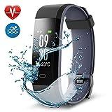 ESDVSDV Fitness Armband Fitness Tracker, Buntes Bildschirm Fitness Tracker,Aktivitätstracker mit Pulsmesser,IP68 Wasserdichtes Schrittzähler mit Alarm/Kalorien/Schlafüberwachung, für Android und iOS