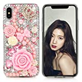iPhone X Case, Mavis's Diary Full Edge Protective Plastic Case, 3D Handmade Crystal