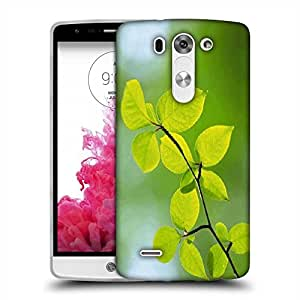 Snoogg Green Leaves Plants Designer Protective Phone Back Case Cover For LG G3 BEAT STYLUS