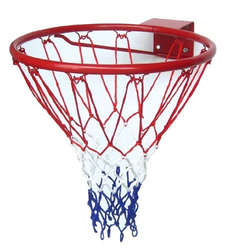 Solex Sports Street-basketball-ring mit Netz, rot, 46 x 46 x 13 cm, 20325