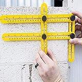 Herramienta de diseño de regla de medición de ángulo de cuatro lados bricolaje para manitas, constructores, artesanos