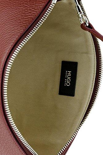 HUGO Damen Nycla-r 10195833 01 Schultertasche, 22.5x13x4.5 cm Dunkelrot (603)