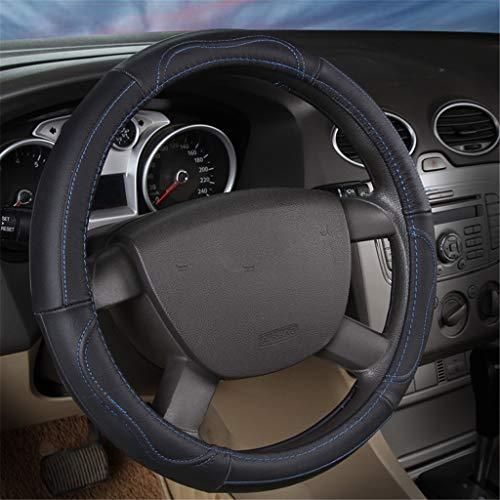 TUNBG Lenkung Wheel Cover 38-47cm Car Interior Decoration Fiber Leder Breathable Non-Slip Massage Style Grip,C,42cm