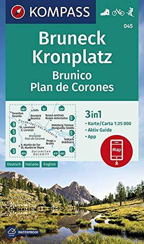 Carta escursionistica n. 045. Brunico, Plan de Corones-Bruneck, Kronplatz 1:25.000
