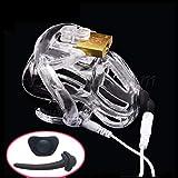 Elektrische Keuschheitsschreck für Männer, C-ock mit 4 P-Enis Ring für Erwachsene, Elektro-Sex-Spielzeug für Männer small black-2