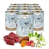 AniForte PureNature Junior-Menue Feines Rind mit Kartoffeln 12x400g Nass-Futter, Naturprodukt für Hunde, Welpen und Junghunde
