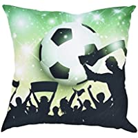 PLOT Kissen,2018 Hot Sale Fußball Polyester Zierkissenbezüge Kissenhülle Kopfkissenbezug Bettkissenbezug Pillowcase Sofa Zuhause Dekoration,45 cm x45 cm (D)