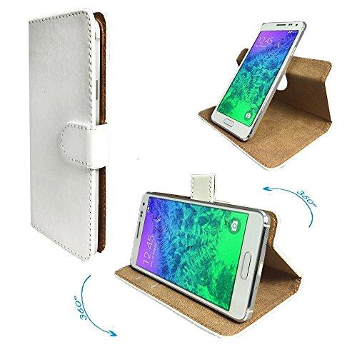 Timmy M20 Pro New Smartphone Tasche / Schutzhülle mit 360° Dreh und Standfunktion - 360 Weiß Nano - Mobile M20