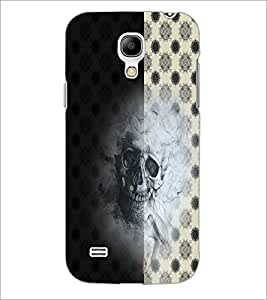 PrintDhaba Skull D-4942 Back Case Cover for SAMSUNG GALAXY S4 MINI (Multi-Coloured)