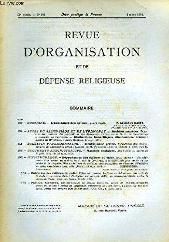 t l charger pdf revue d 39 organisation et de defense religieuse ixe annee n 186 mars 1914. Black Bedroom Furniture Sets. Home Design Ideas