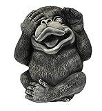 3 große Affen- einzeln und im Set - nichts sehen hören sagen - Glücksbringer -Skulptur (Affe nichts sehen -  Art.Nr 10272)