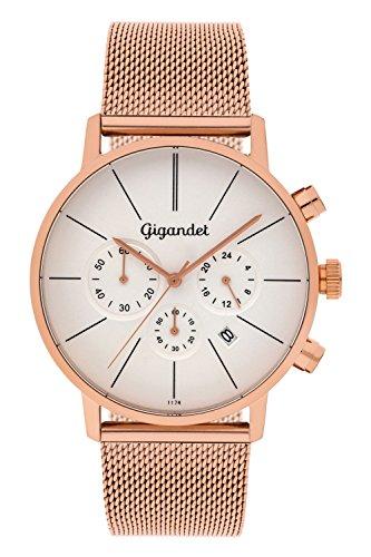 Gigandet G32-007 - Reloj para hombres, correa de acero inoxidable color oro rosa