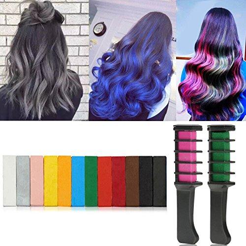 Combs temporäre Haarfarbe Haarfarbe Pinsel für Erwachsene Kinder (12er Pack) (Temporäre Blaue Haare)