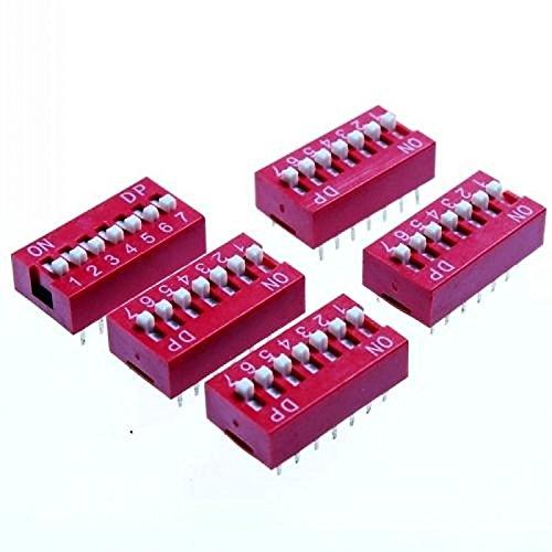 EXSZS 7 posiciones bricolaje interruptores DIP paso