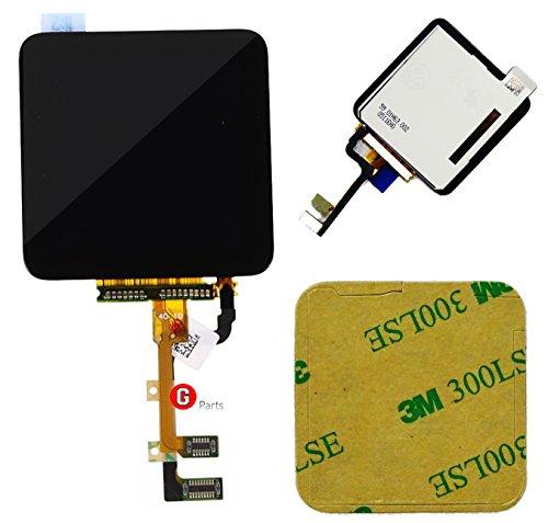 ay Touchscreen Glas Digitizer Einheit SCHWARZ für iPod Nano 6 Generation -Ink Doppelseitigen 3M Klebestreifen NEU ()