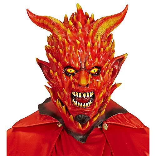 Widmann 05404 Maske Teufel in Flammen, Rot, Taglia -