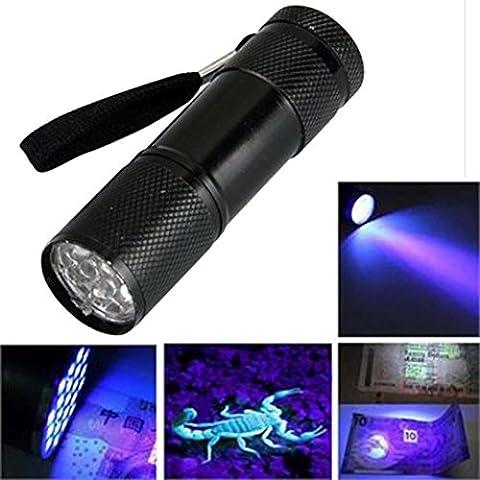 hkfv 9LED Violet Lampe de poche anti Contrefaçon filigrane Détection après Scorpion Lumières Test noter Lampe de poche