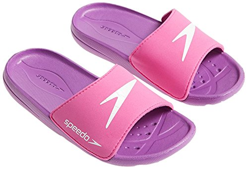 Speedo Atami Core Sld Jf Scarpe, Pink/Purple/White, 1 UK (33 IT)