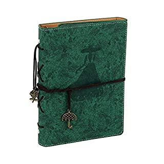 YHH A5 Productivity Planner with Index Tab, Undated Diary Notebook Weekly Monthly Organiser Agenda, Calendar 2019/2020 Self Design, Set Goal/Task Grow Happiness Idea for Life Office School Girl Green