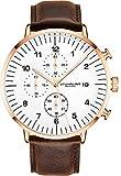 Stuhrling Original Montres chronographe pour Homme Bracelet de Montre en Cuir avec...