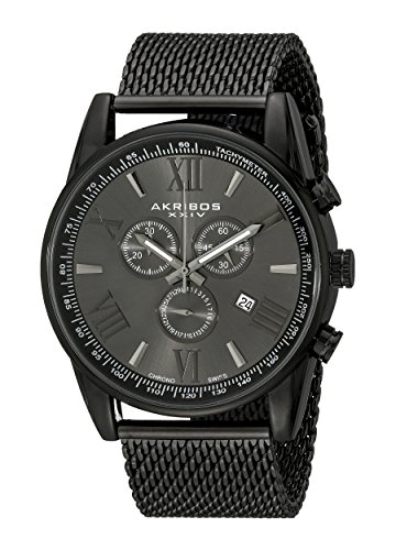akribos-xxiv-mens-quartz-watch-with-round-black-radiant-sunburst-dial-chronograph-display-and-black-