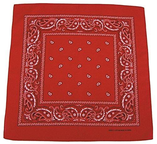 Bandana Biker Kopftuch rot-weiß ba-94