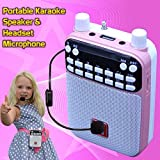 Mr Entertainer Popbox (Pink) Portable Bluetooth Karaoke Speaker, Voice Amplifier & Headset Microphone. Kids Karaoke Machine that works with any Smartphone, iPad or Tablet