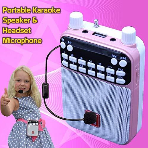 Mr Entertainer Popbox Karaoke-Lautsprecher, Bluetooth, Sprachverstärker und Headset-Mikrofon, Pink (Für Headset-mikrofon Kinder)