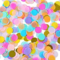 Shappy 1 Inch Multicolor Round Tissue Confetti for Wedding Birthday Party Decoration, 6000 Pieces