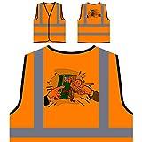 Credit Crunch Mann Kreditkarten Geschenk Personalisierte High Visibility Orange Sicherheitsjacke Weste d768vo