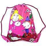 Ben & Holly 's Little Kingdom–Cute cordón bolsa de entrenador PE Kit nadar mochila escolar