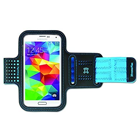XtremeMac Neoprene Sports Armband Case Cover for Apple iPhone 6 and Samsung Galaxy S5 - Blue