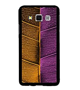 Fuson Premium Bicolored Leaf Metal Printed with Hard Plastic Back Case Cover for Samsung Galaxy A3