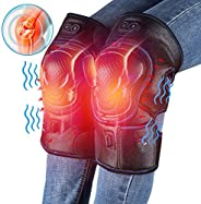 Heated Knee Massager, Heat & Vabration Knee Brace Wrap Electric Heating Pad W/Rechargable 8.4V Battery Warm Arthritis Meniscu