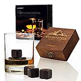 Lumaland Whiskysteine aus Granit im 6er Set inklusive Holzbox und Aufbewahrungsbeutel