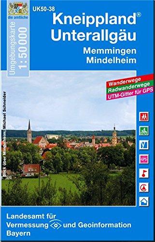 Kneippland Unterallgäu 1:50 000 (UK 50-38) (UK50 Umgebungskarte 1:50000 Bayern Topographische Karte Freizeitkarte Wanderkarte)