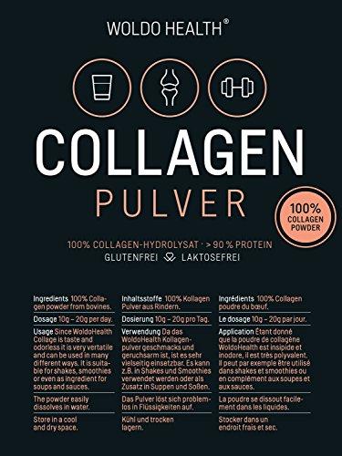 WoldoHealth Kollagenhydrolysat Pulver kombinierbar mit vegavero Primal State primalife Vihado LINEAVI Nu U Nutrition Kollagen Protein Pulver ESN Myprotein Optimum Nutrition