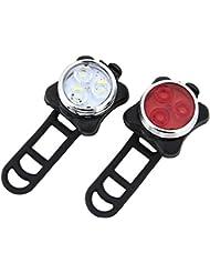 Luces LED Bicicleta USB Recargables, Sdragons Resistente al Agua conjunto de luces delantera y trasera para bicicleta 4 modos de iluminación