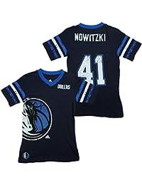 adidas Dallas NBA Dirk Nowitzki Big Girls Replica Jersey Tee