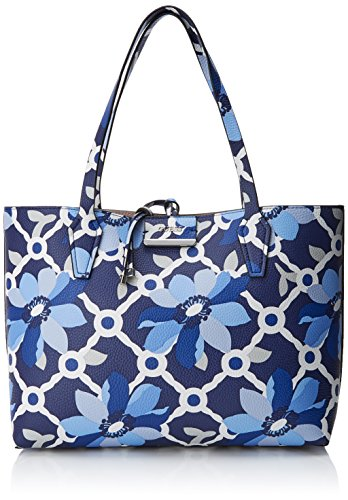 Guess Damen Bags Hobo Schultertasche, Mehrfarbig (Blue Floralstone), 12.5x27x42.5 centimeters -
