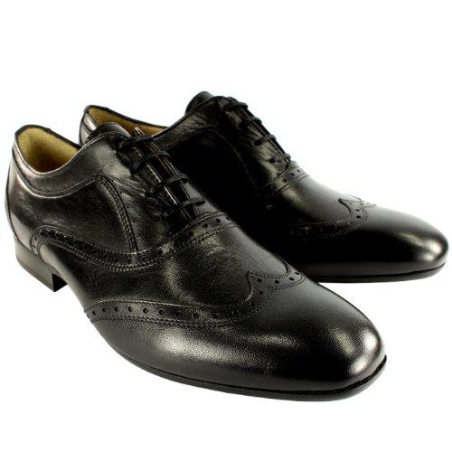 Hommes H By Hudson Francis Richeli Lacets Nouvelles Chaussures Cuir Noir