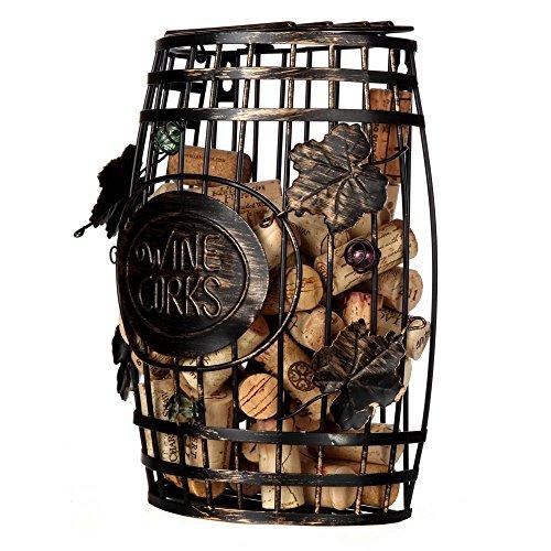 home-x Wand montiert, Schaft Form Metall Wein Kork Halter, Best Design Geschenk für Weinliebhaber -