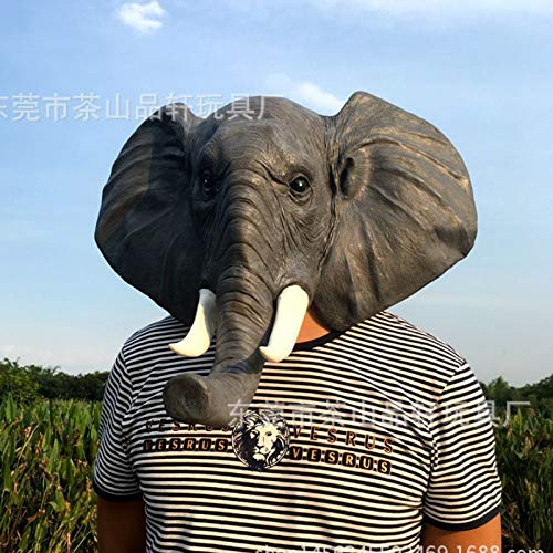 baoqsure Adulto Cara Completa Máscara De Látex Partido Elefante Cabeza Máscara Halloween Calabaza Linterna Cosplay Máscaras