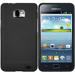 mumbi TPU Schutzhülle für Samsung Galaxy S2 Plus i9105P Hülle schwarz