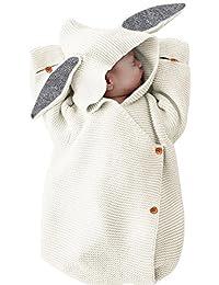 Saco de dormir/manta de dormir para bebé, manta de punto de lana para