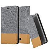 Cadorabo Book Case works with WIKO HARRY 2 in LIGHT GREY