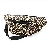 Leopard Print Fabric Bum Bag / Fanny Pack - Club Wear/ Party Wear