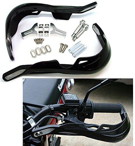 """Preisvergleich Produktbild Paar Schwarz Universal Motorrad Handschützer 22mm 7/8"""" für Yamaha Suzuki"""