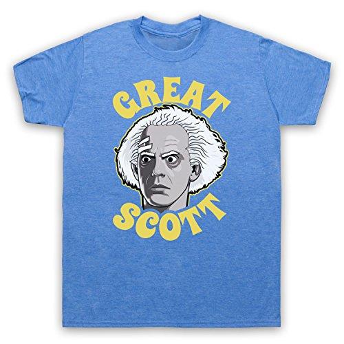 Doc Great Scott Unofficial Mens T-Shirt, Vintage Blue